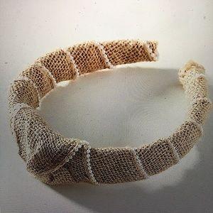 Anthropologie NWT Woven Embellished Headband